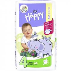 Dětské pleny BELLA Baby Happy velikost 4  Maxi 66 ks