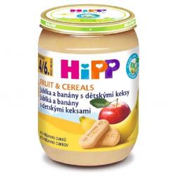 HiPP BIO Jablka a banány s dětskými keksy 190 g