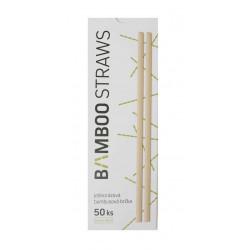 Bamboo bambusová brčka, průměr 6 mm, délka 23 cm - 50 ks