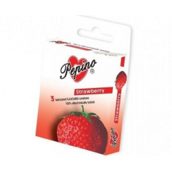 Prezervativ - kondom Pepino Jahoda 3ks